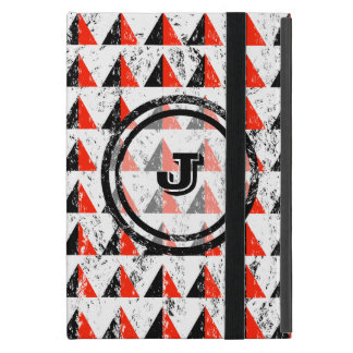 Red Pyramid Geometric Monogram iPad Mini Case