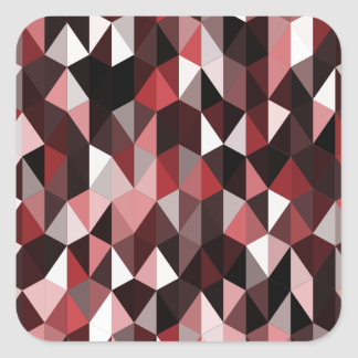 red pyramid pattern 07 square sticker