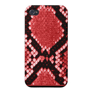 Red Python Print iPhone 4/4S Cases