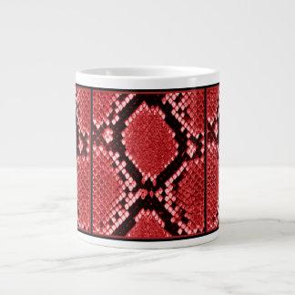 RED PYTHON PRINT LARGE COFFEE MUG