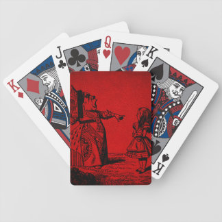 Red Queen & Alice (red leather) Playing Cards