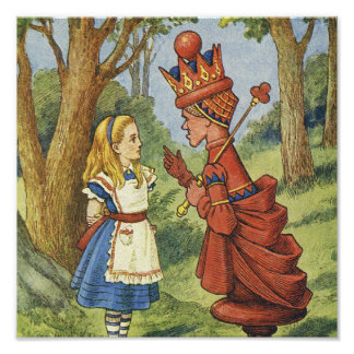 Red Queen Canvas Art Poster