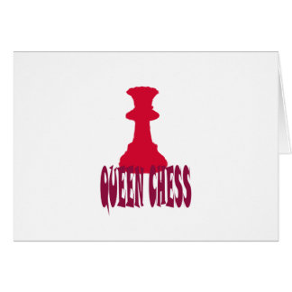 Red Queen Chess Greeting Cards