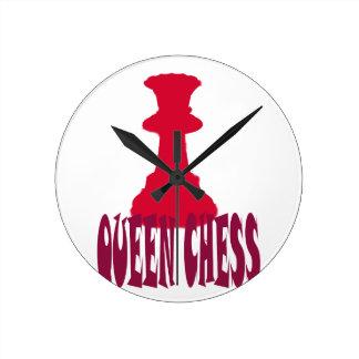 Red Queen Chess Wallclocks