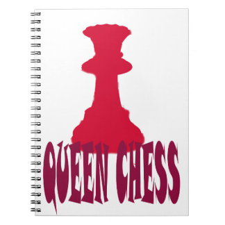 Red Queen Chess Spiral Note Books