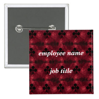 Red Queen Employee Name Tag Button