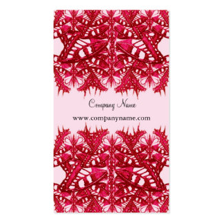 red queen heart company name profile card business card templates