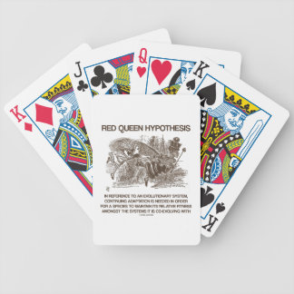 Red Queen Hypothesis (Alice Red Queen Wonderland) Bicycle Playing Cards