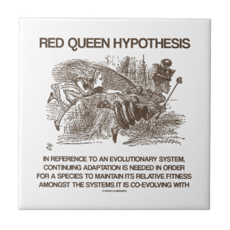 Red Queen Hypothesis (Wonderland Alice Red Queen) Small Square Tile