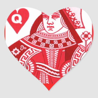 Red Queen of Hearts Heart Sticker