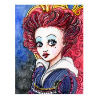 red queen postcard