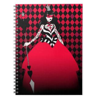 Red Queen Spiral Notebook