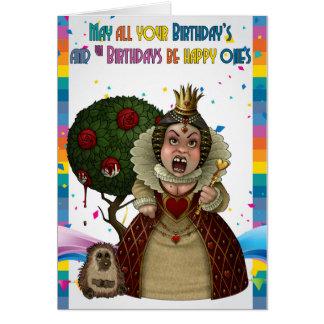Red Queen, Wonderland Birthday Card