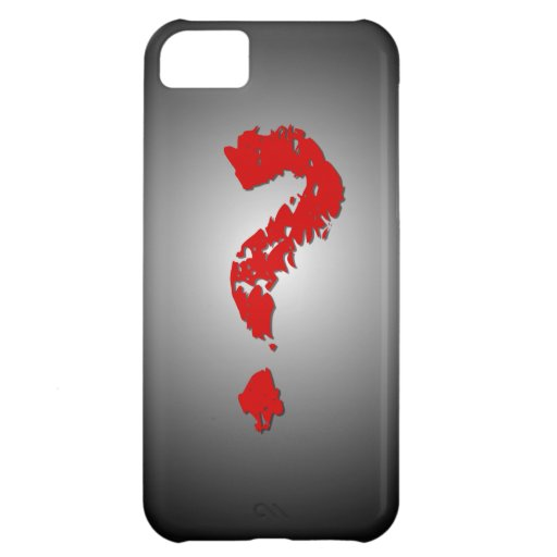Red Question Mark iPhone 5C Cases