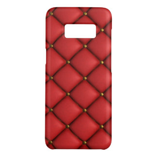 Red Quilted Texture Samsung Galaxy S8, Phone Case