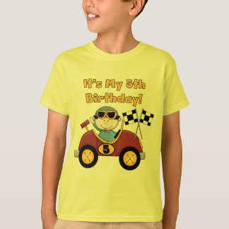 Red Race Car 5th Birthday Tshirts and Gifts