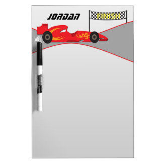 Red Race Car Dry Erase Boards