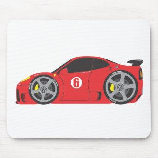 Red Race Car Mouse Mats