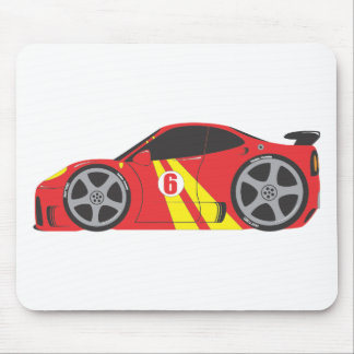 Red Race Car Mousepads