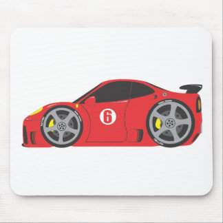 Red Race Car Mouse Mats