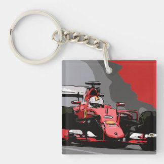 RED RACE CAR - NEVER LIFT KEY RING