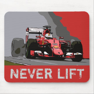 RED RACE CAR - NEVER LIFT MOUSE PAD