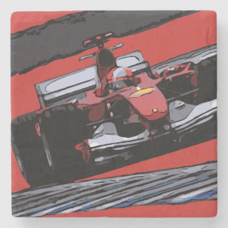 RED RACE CAR - PASSION STONE COASTER