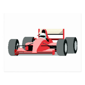 Red Race Car Post Card