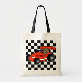 Red Race Car Tote Budget Tote Bag