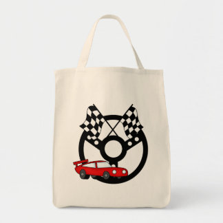 Red Race Car Tshirts and Gifts Canvas Bags