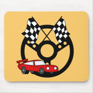 Red Race Car Tshirts and Gifts Mouse Pad