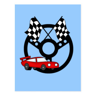 Red Race Car Tshirts and Gifts Postcard