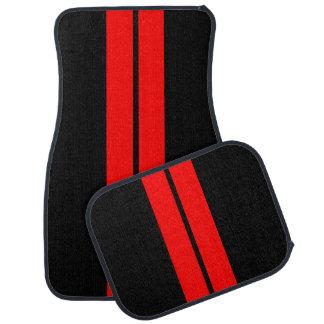 Red Race Stripes | DIY Background Color Car Mat