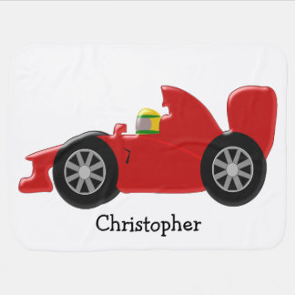 Red Racing Car Personalised Buggy Blankets
