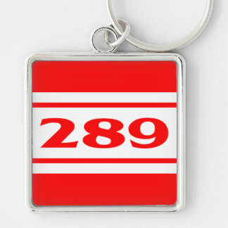 Red Racing Stripes 289 Motor Size Keychain Key Chains