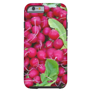 Red rädisor and green blades tough iPhone 6 case