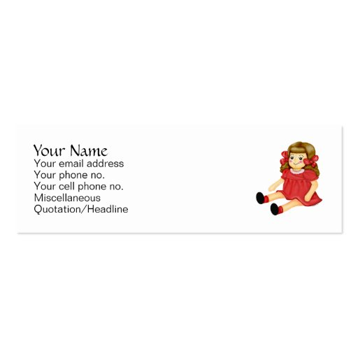 Red Ragdoll Business Card
