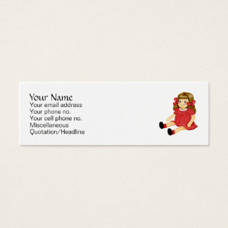 Red Ragdoll Mini Business Card
