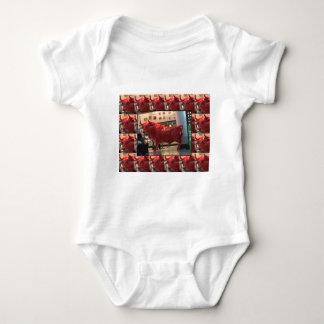 Red Raging Bull Heathrow Airport London England UK Baby Bodysuit