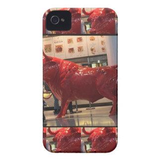 Red Raging Bull Heathrow Airport London England UK iPhone 4 Cases