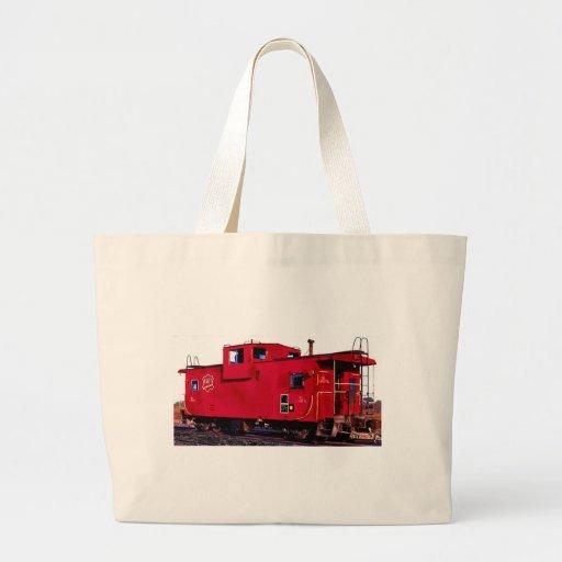 Red Railroad Caboose Bag