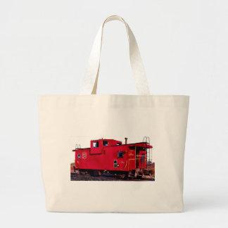 Red Railroad Caboose Jumbo Tote Bag