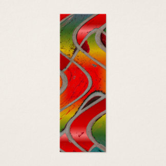 red rainbow bookmark mini business card