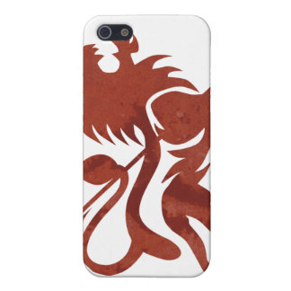 Red Ras Lion iPod Touch by Skidone iPhone 5 Covers