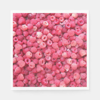 red raspberries template to customize personalize disposable napkin