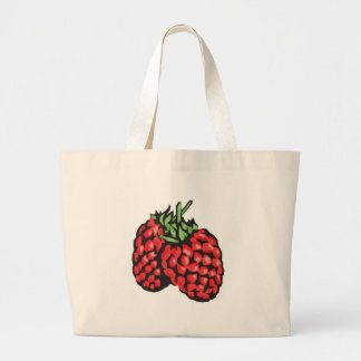 red raspberries jumbo tote bag
