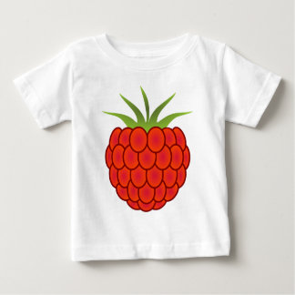 Red Raspberry Line Art Baby T-Shirt