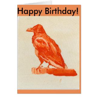 Red Raven Birthday card