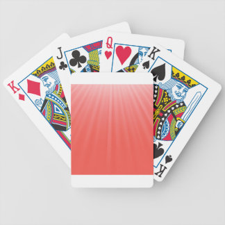 red rays bicycle playing cards