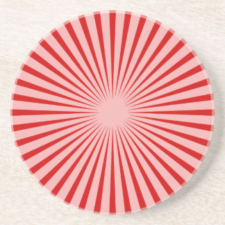 Red Rays Beverage Coaster